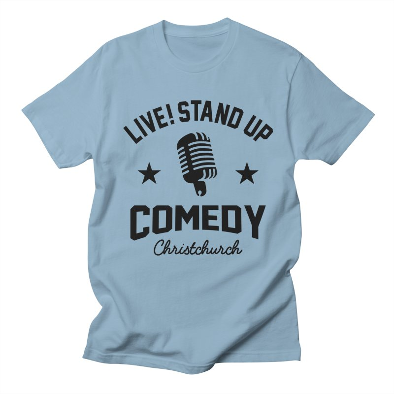 Live! Stand Up Chch Black Women's Regular Unisex T-Shirt by Can Do Comedy Official Merchandise Store