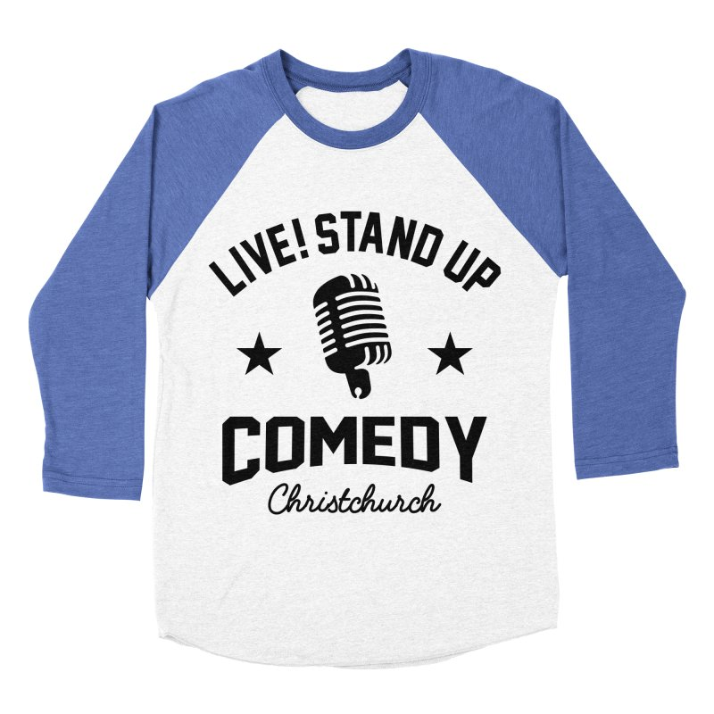Live! Stand Up Chch Black Women's Baseball Triblend Longsleeve T-Shirt by Can Do Comedy Official Merchandise Store