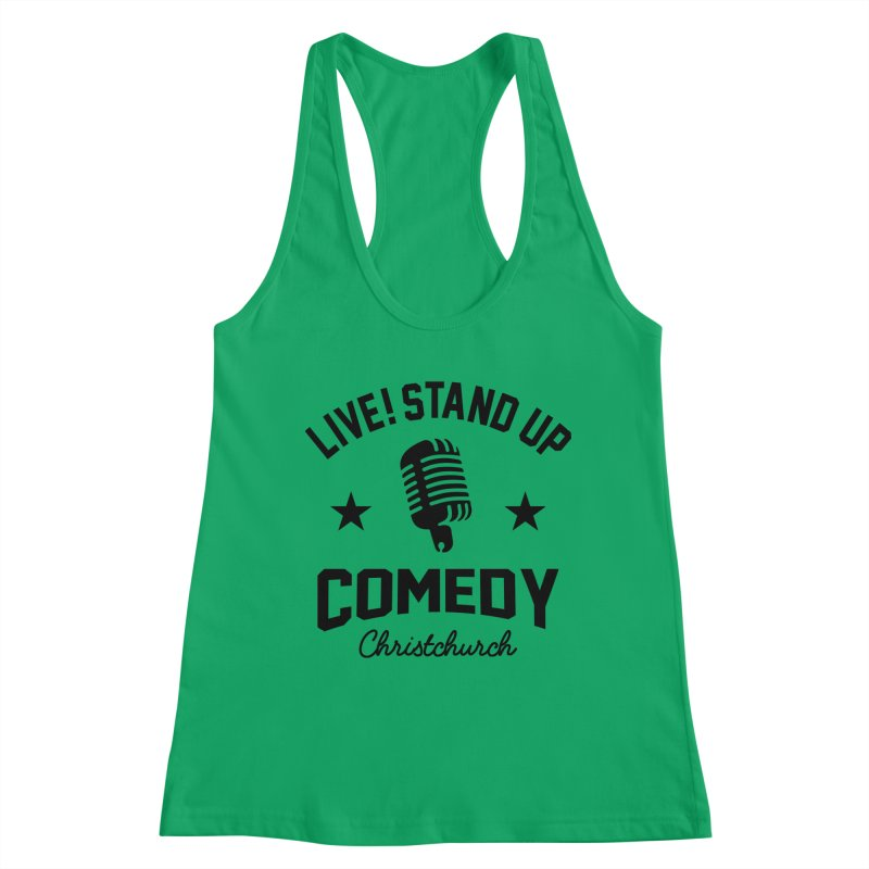 Live! Stand Up Chch Black Women's Tank by Can Do Comedy Official Merchandise Store