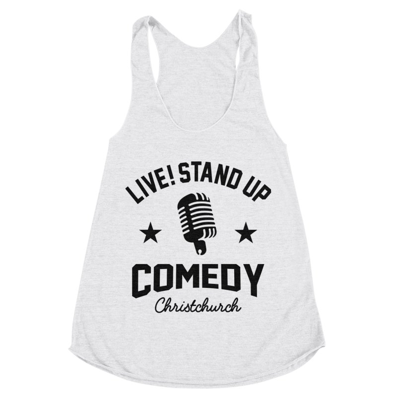 Live! Stand Up Chch Black Women's Racerback Triblend Tank by Can Do Comedy Official Merchandise Store