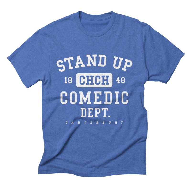 CHCH Comedic Dept White Men's T-Shirt by Can Do Comedy Official Merchandise Store