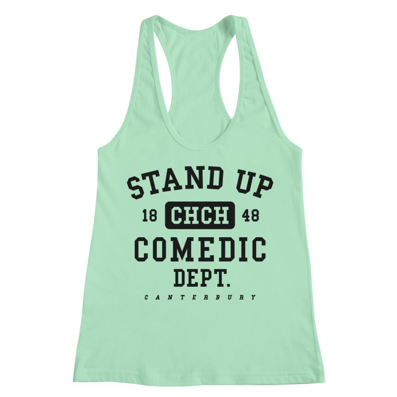 CHCH Comedic Dept Black Women's Racerback Tank by Can Do Comedy Official Merchandise Store