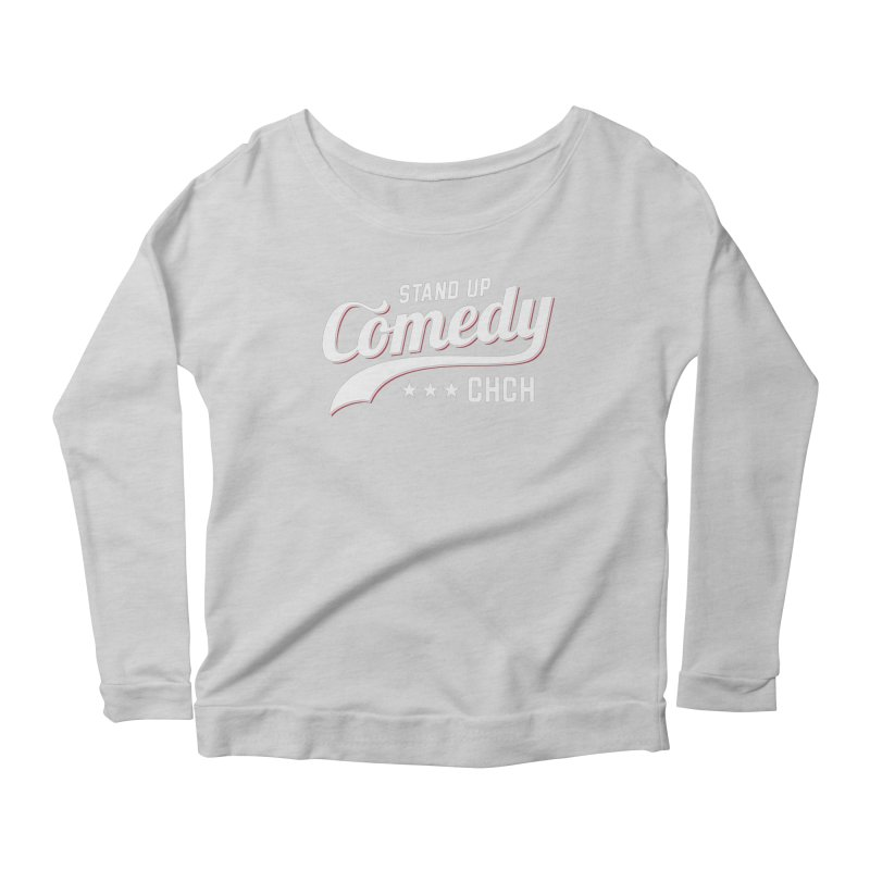 Stand Up Chch Swoosh Women's Scoop Neck Longsleeve T-Shirt by Can Do Comedy Official Merchandise Store