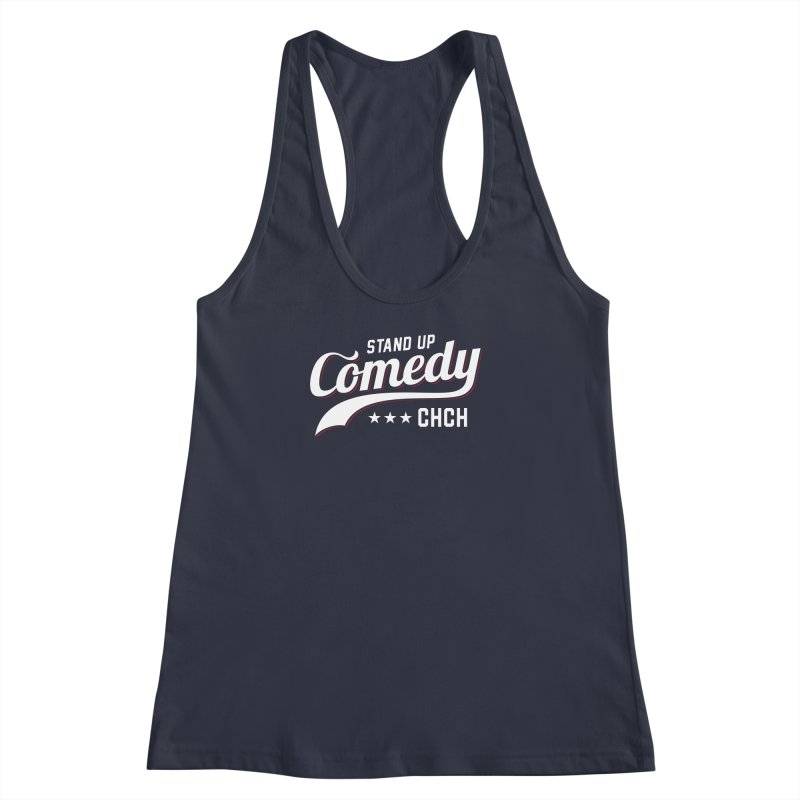 Stand Up Chch Swoosh Women's Racerback Tank by Can Do Comedy Official Merchandise Store