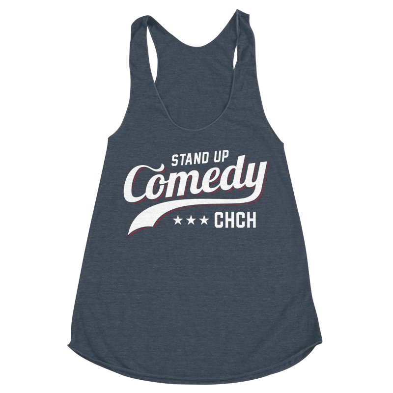 Stand Up Chch Swoosh Women's Racerback Triblend Tank by Can Do Comedy Official Merchandise Store