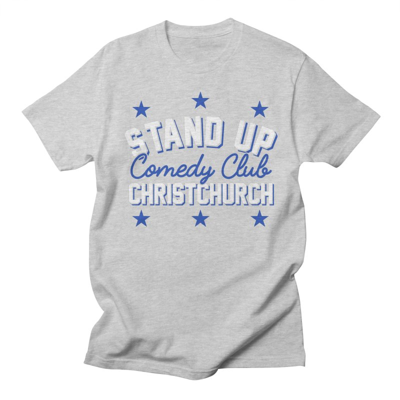 Stand Up Stars Blue Women's Regular Unisex T-Shirt by Can Do Comedy Official Merchandise Store