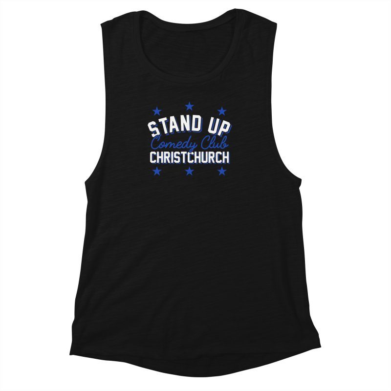 Stand Up Stars Blue Women's Muscle Tank by Can Do Comedy Official Merchandise Store