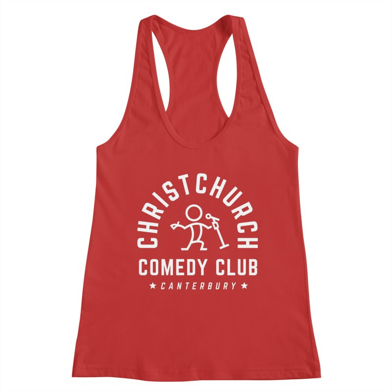 Stick Figure White Women's Tank by Can Do Comedy Official Merchandise Store