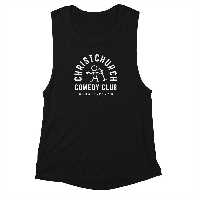 Stick Figure White Women's Muscle Tank by Can Do Comedy Official Merchandise Store