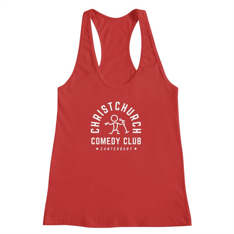 Stick Figure White Women's Racerback Tank by Can Do Comedy Official Merchandise Store