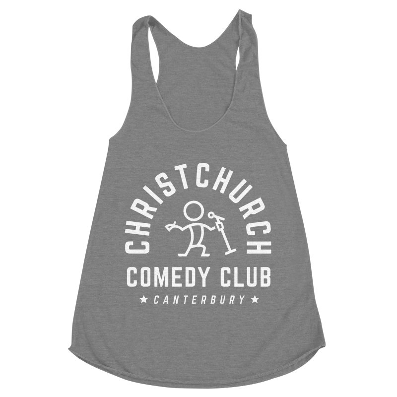 Stick Figure White Women's Racerback Triblend Tank by Can Do Comedy Official Merchandise Store