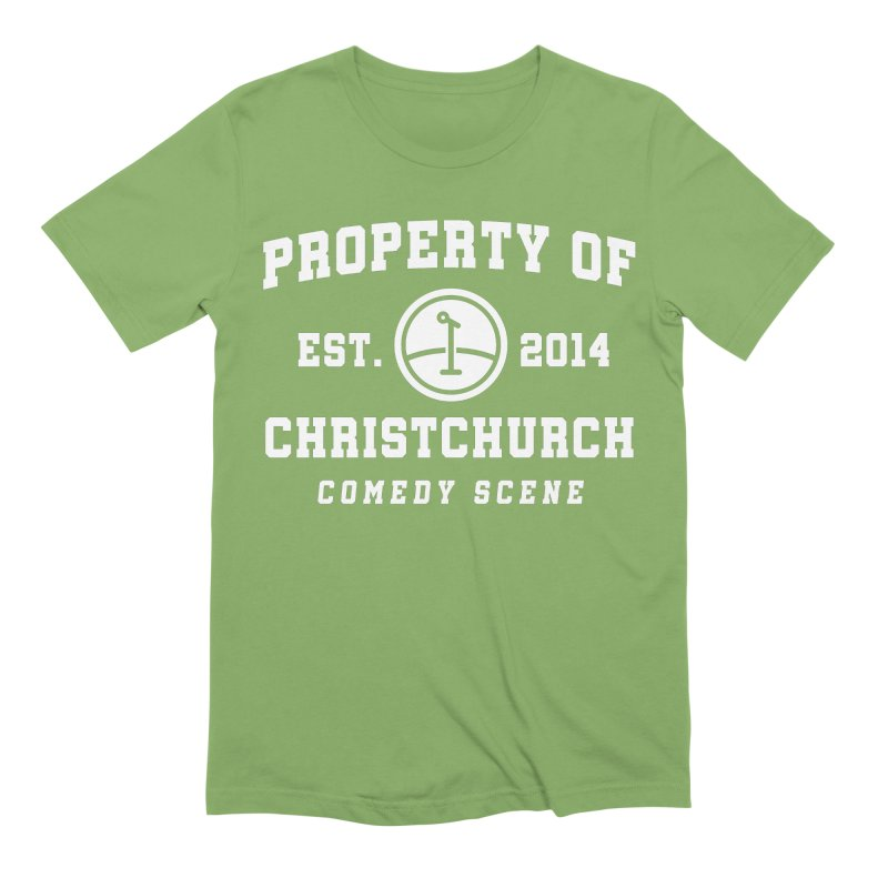 Property Of Chch White Men's Extra Soft T-Shirt by Can Do Comedy Official Merchandise Store
