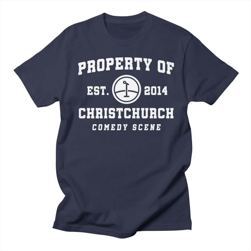 Property Of Chch White Men's Regular T-Shirt by Can Do Comedy Official Merchandise Store