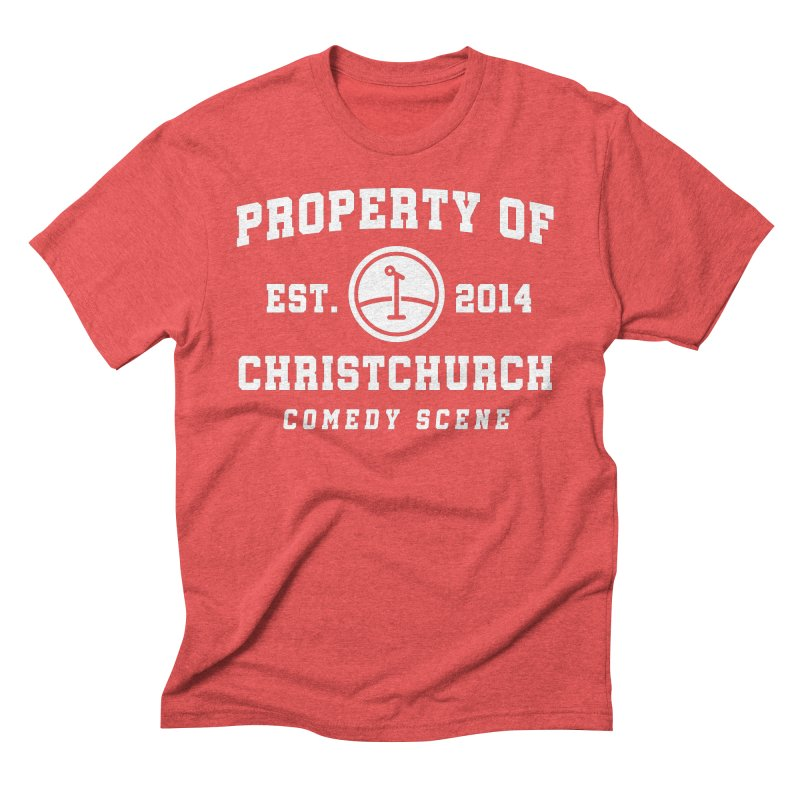 Property Of Chch White Men's Triblend T-Shirt by Can Do Comedy Official Merchandise Store