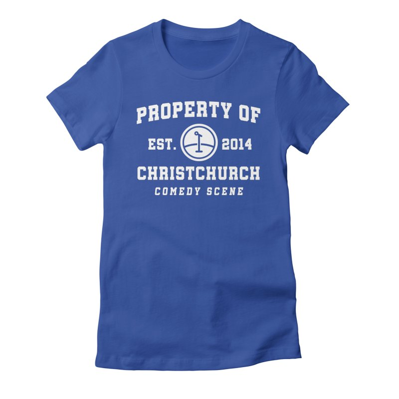 Property Of Chch White Women's Fitted T-Shirt by Can Do Comedy Official Merchandise Store