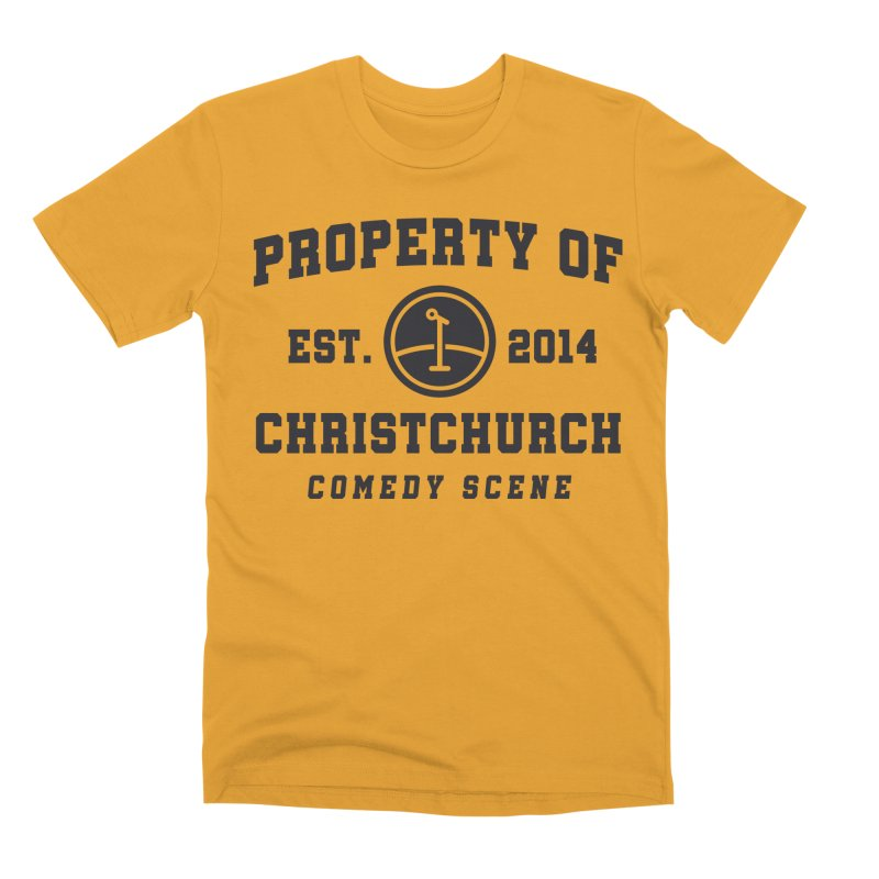 Property Of Chch Black Men's Premium T-Shirt by Can Do Comedy Official Merchandise Store