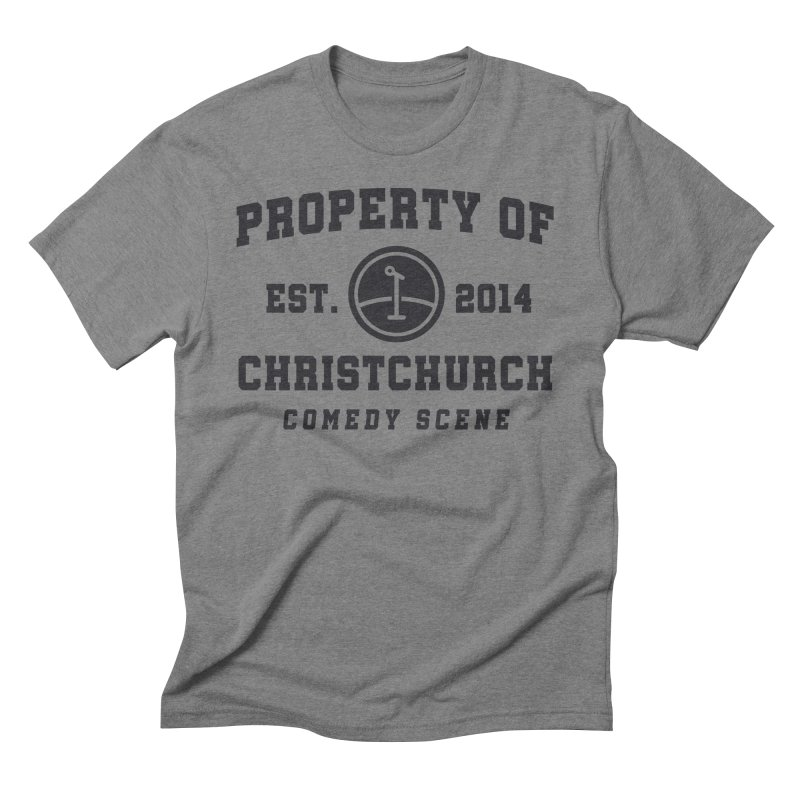Property Of Chch Black Men's T-Shirt by Can Do Comedy Official Merchandise Store