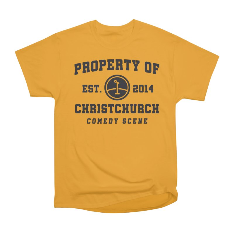 Property Of Chch Black Women's Heavyweight Unisex T-Shirt by Can Do Comedy Official Merchandise Store