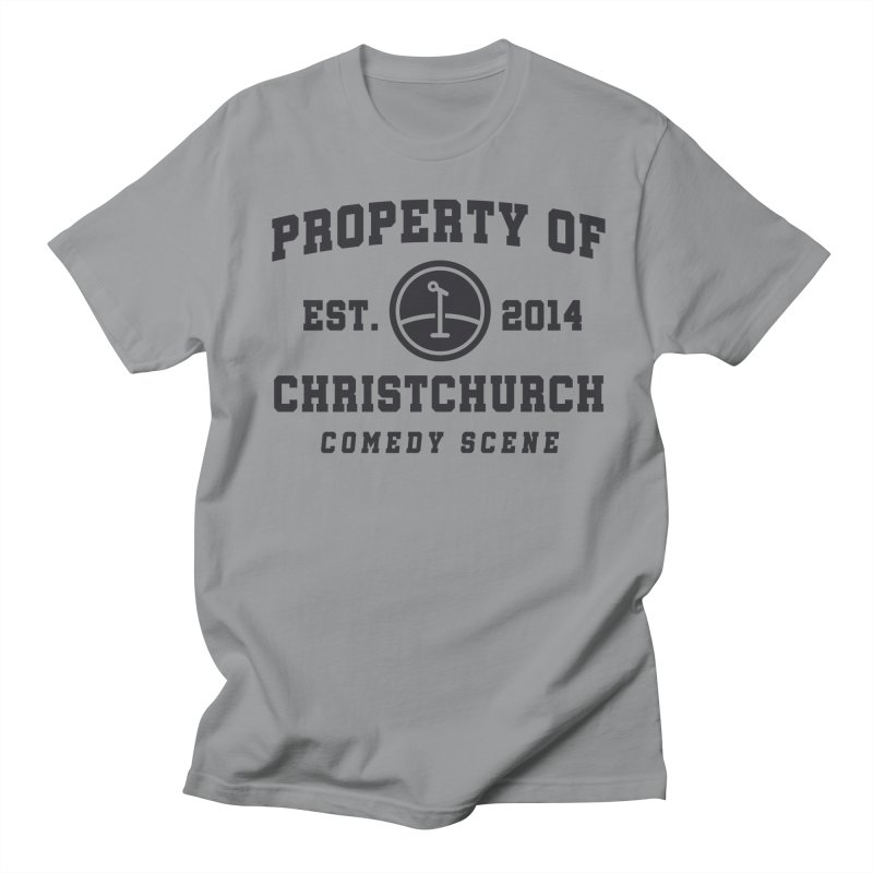 Property Of Chch Black Men's Regular T-Shirt by Can Do Comedy Official Merchandise Store