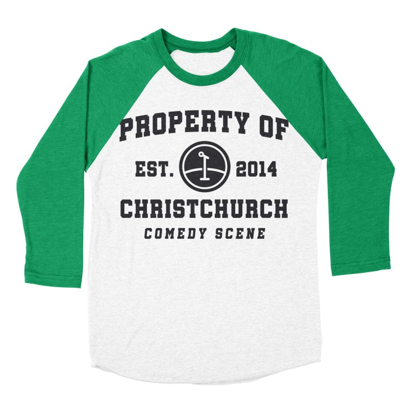 Property Of Chch Black Women's Baseball Triblend Longsleeve T-Shirt by Can Do Comedy Official Merchandise Store