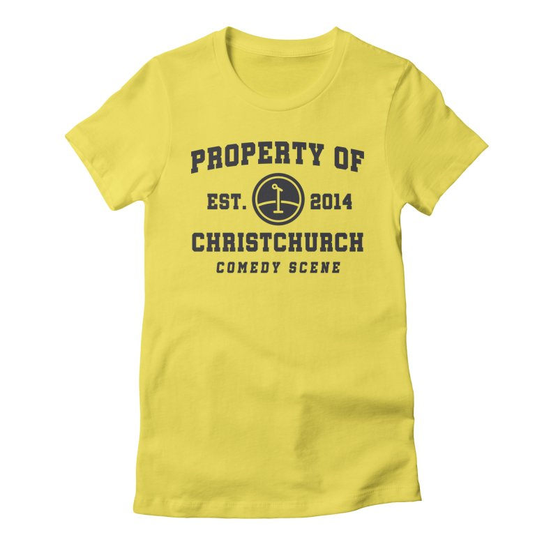Property Of Chch Black Women's Fitted T-Shirt by Can Do Comedy Official Merchandise Store