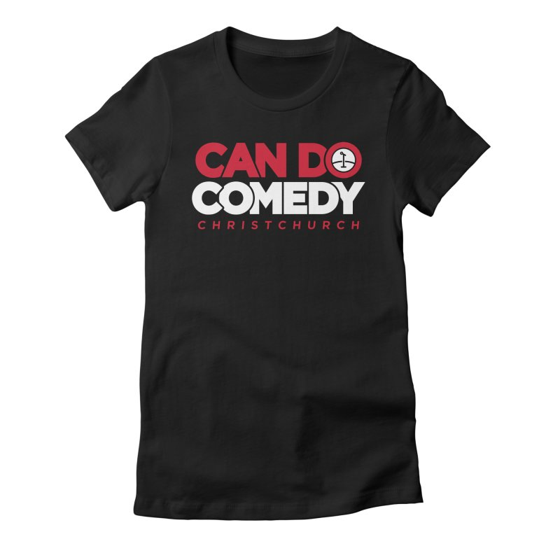 Can Do Comedy Full in Women's Fitted T-Shirt Black by Can Do Comedy Official Merchandise Store