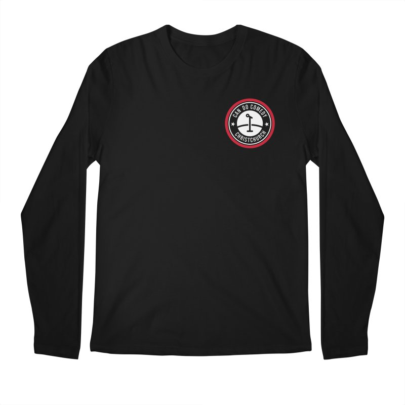 Can Do Comedy Pocket in Men's Regular Longsleeve T-Shirt Black by Can Do Comedy Official Merchandise Store