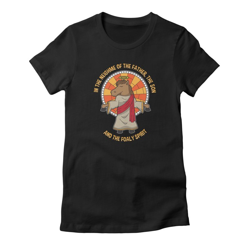 Taylor Ruddle - The Foaly Spirit in Women's Fitted T-Shirt Black by Can Do Comedy Official Merchandise Store