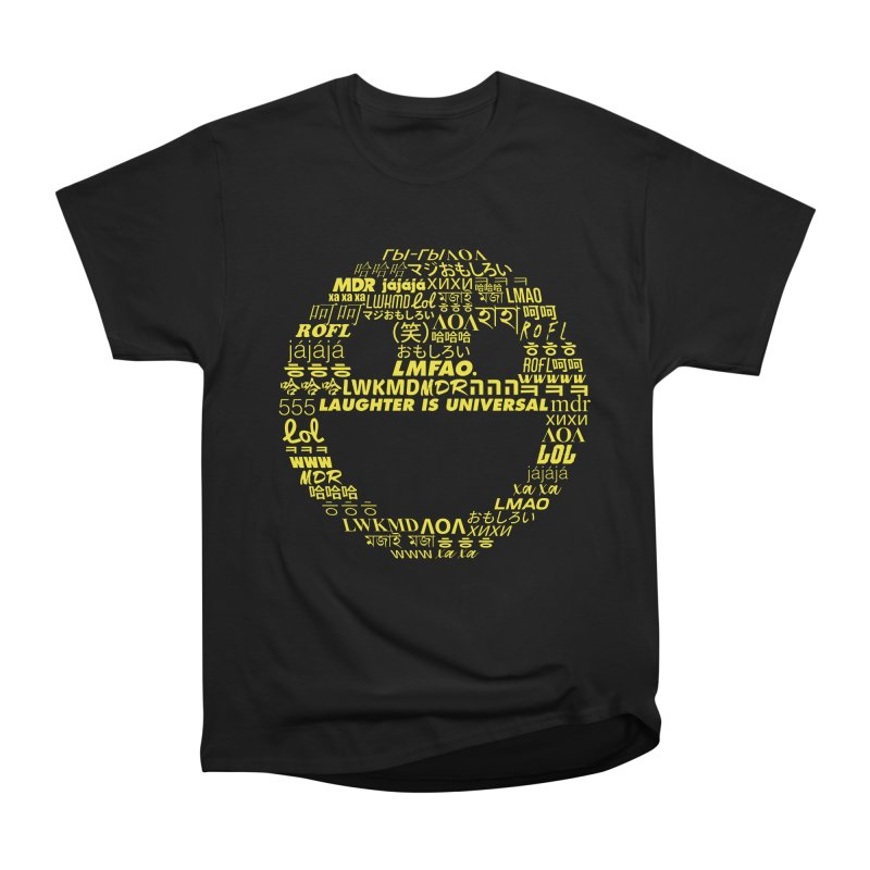 Laughter Is Universal - Yellow Men's Heavyweight T-Shirt by Can Do Comedy Official Merchandise Store
