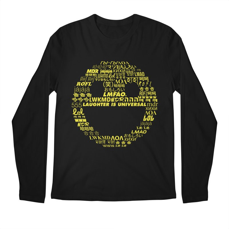Laughter Is Universal - Yellow Men's Regular Longsleeve T-Shirt by Can Do Comedy Official Merchandise Store