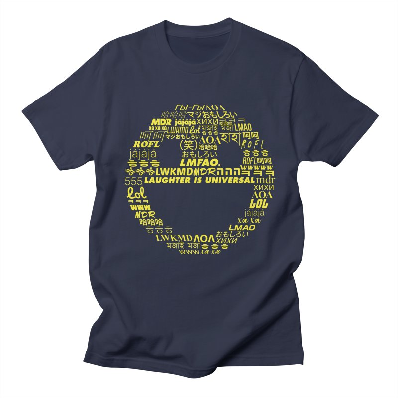 Laughter Is Universal - Yellow Men's Regular T-Shirt by Can Do Comedy Official Merchandise Store