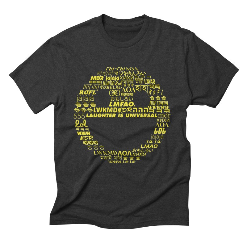 Laughter Is Universal - Yellow Men's Triblend T-Shirt by Can Do Comedy Official Merchandise Store