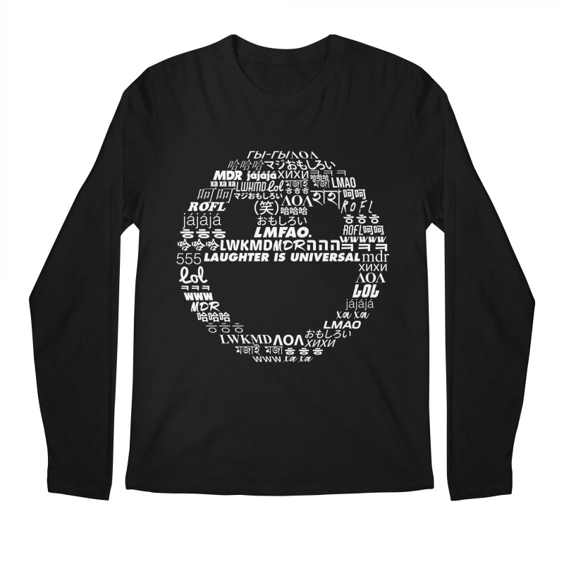 Laughter Is Universal - White Men's Regular Longsleeve T-Shirt by Can Do Comedy Official Merchandise Store