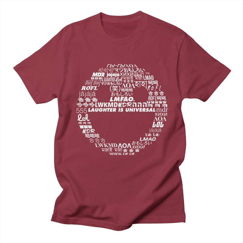 Laughter Is Universal - White Men's Regular T-Shirt by Can Do Comedy Official Merchandise Store
