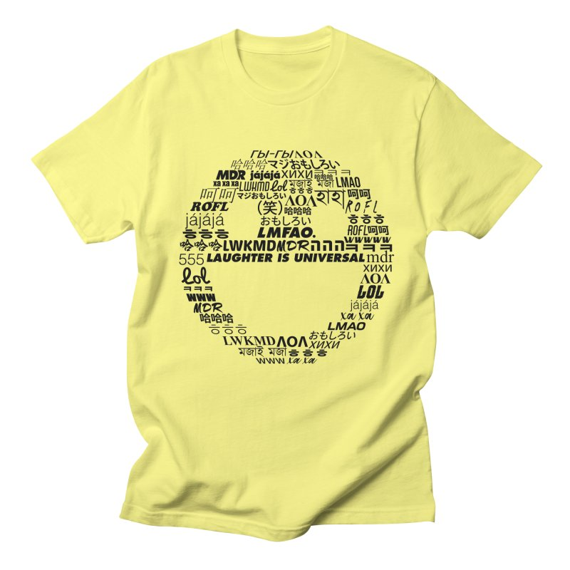 Laughter Is Universal - Black Men's Regular T-Shirt by Can Do Comedy Official Merchandise Store