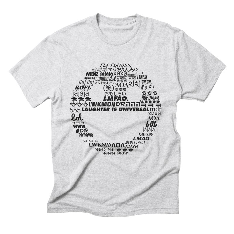 Laughter Is Universal - Black Men's Triblend T-Shirt by Can Do Comedy Official Merchandise Store