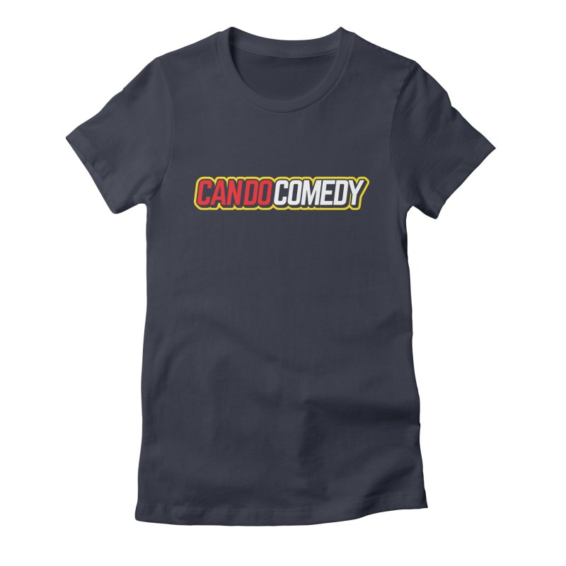 Can Do Comedy Outline in Women's Fitted T-Shirt Midnight by Can Do Comedy Official Merchandise Store