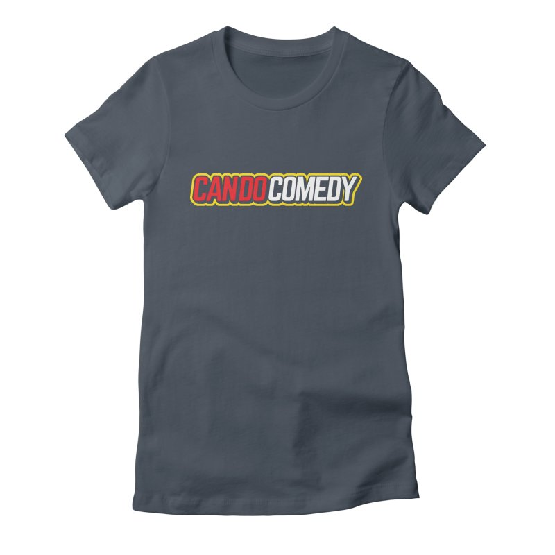Can Do Comedy Outline Women's Fitted T-Shirt by Can Do Comedy Official Merchandise Store
