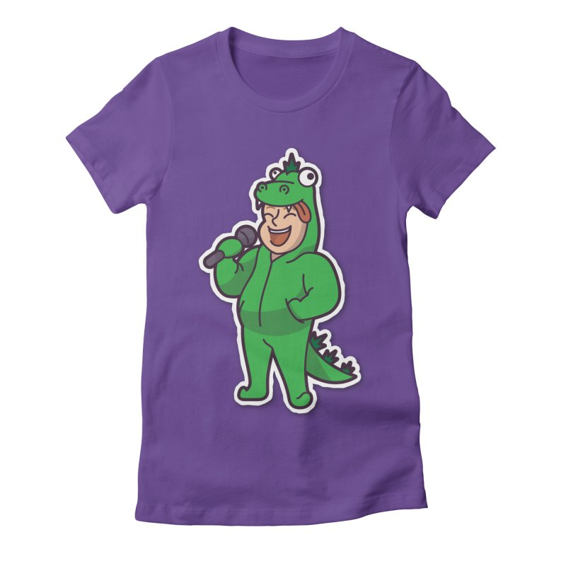 Cartoon Character Big #2 (Zilla) Women's Fitted T-Shirt by Can Do Comedy Official Merchandise Store