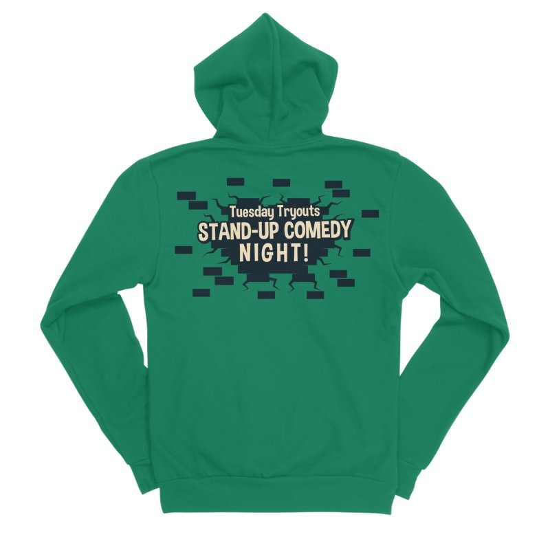 Retro Tuesday Tryouts Design Women's Sponge Fleece Zip-Up Hoody by Can Do Comedy Official Merchandise Store