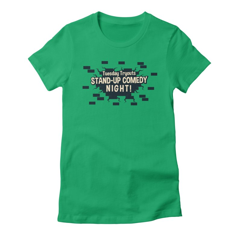 Retro Tuesday Tryouts Design Women's Fitted T-Shirt by Can Do Comedy Official Merchandise Store