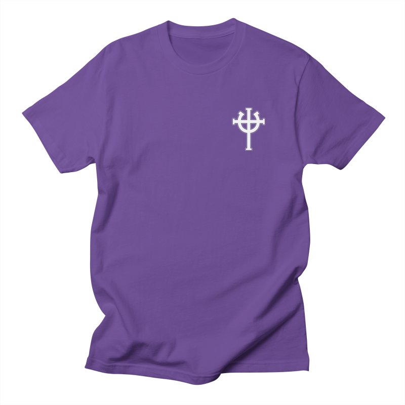 Horse Jesus Cross Pocket Print in Men's Regular T-Shirt Purple by Can Do Comedy Official Merchandise Store