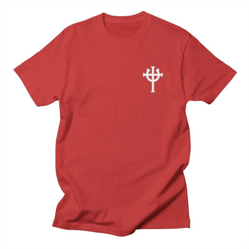 Horse Jesus Cross Pocket Print in Men's Regular T-Shirt Red by Can Do Comedy Official Merchandise Store
