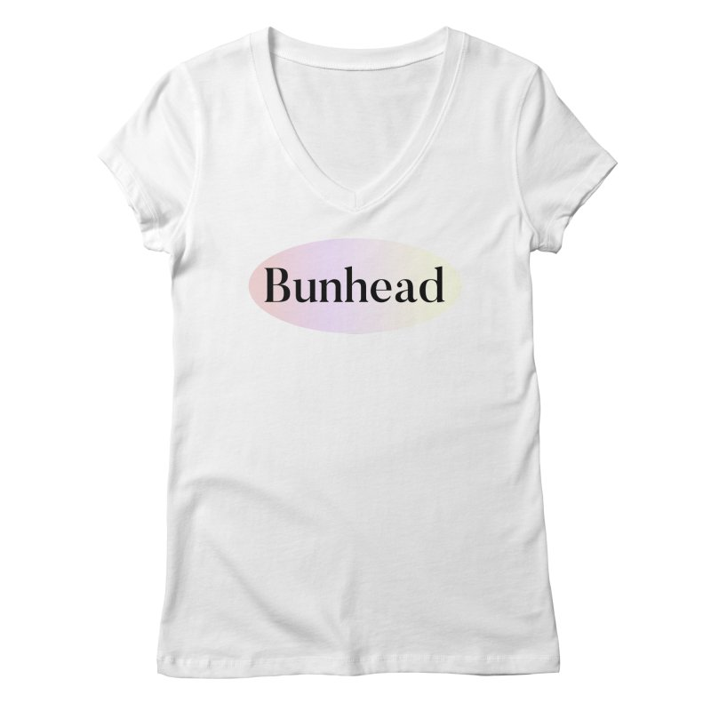 Bunhead in Women's V-Neck White by Can-Do Girl Activewear
