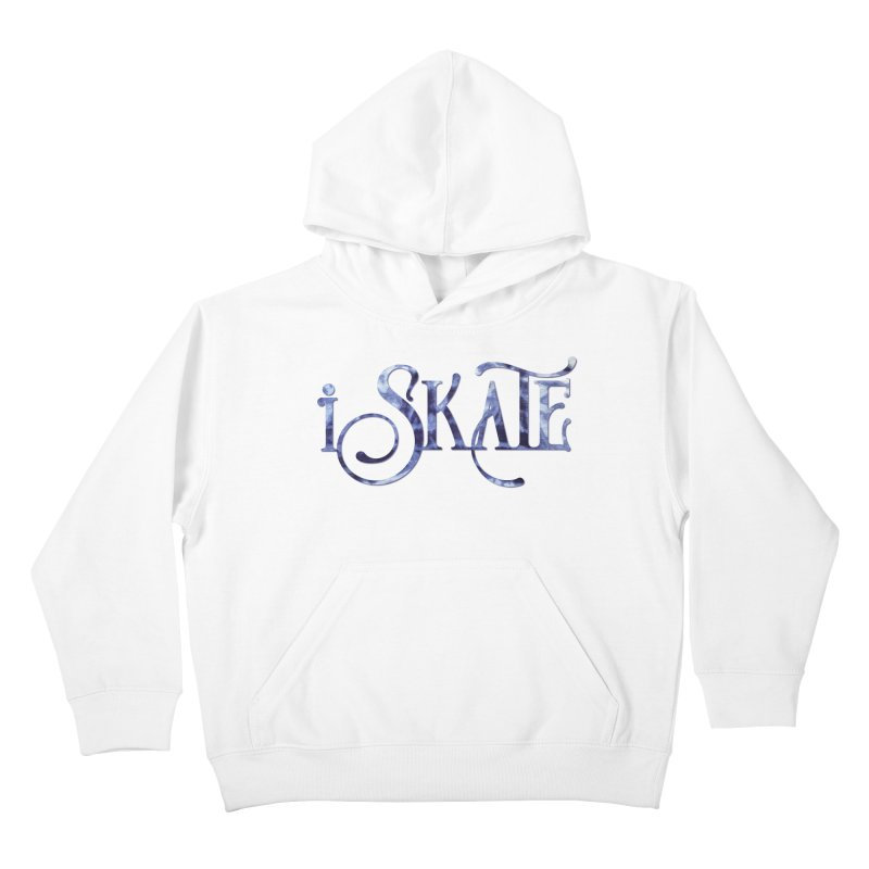 iSkate! in Kids Pullover Hoody White by Can-Do Girl Activewear