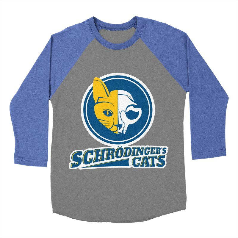 Schrödinger's Cats Men's Baseball Triblend T-Shirt by Candy Guru's Shop