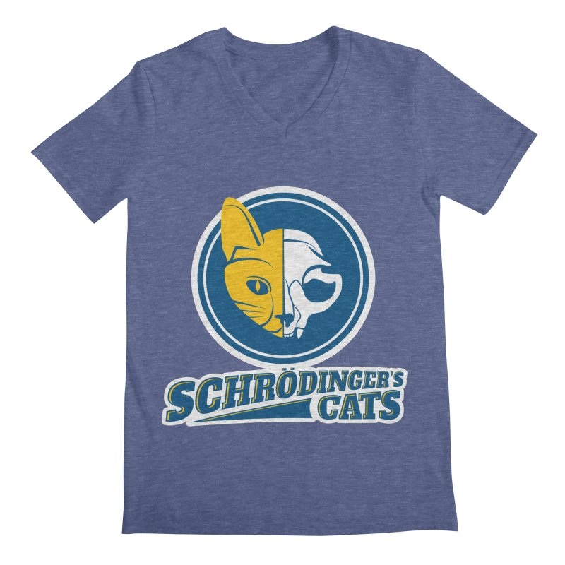 Schrödinger's Cats Men's V-Neck by Candy Guru's Shop