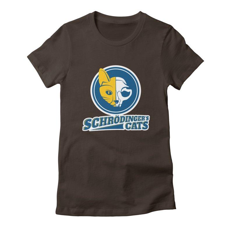 Schrödinger's Cats Women's Fitted T-Shirt by Candy Guru's Shop