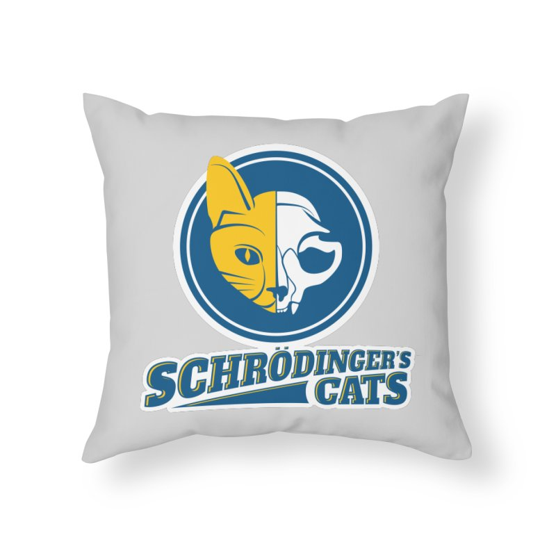 Schrödinger's Cats Home Throw Pillow by Candy Guru's Shop