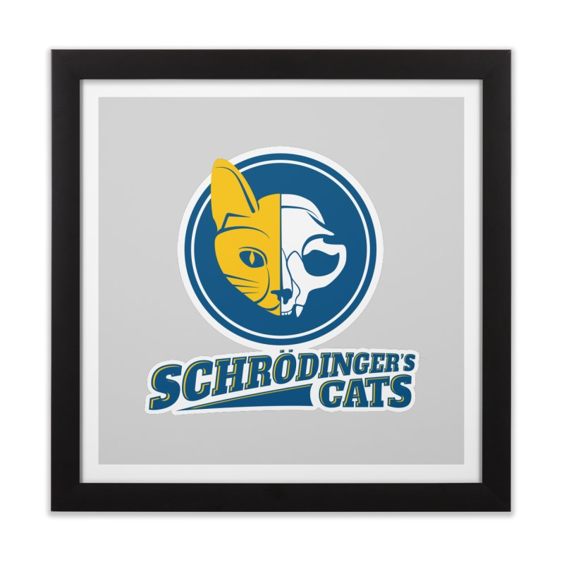Schrödinger's Cats Home Framed Fine Art Print by Candy Guru's Shop